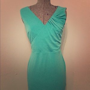 NWT ANN TAYLOR Green Dress